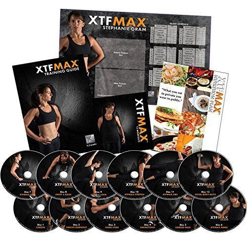 """90-day program you can take in 30-day """"bites.""""  A good alternative to other extreme fitness systems.  90 Day Extreme Fitness DVD Program with Nutrition Plan for Fitness Fans of All Levels"""