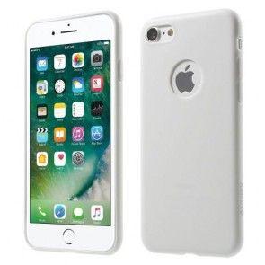 Husa iPhone 7, Protectie Spate si Laterale, TPU, Slim, Alba