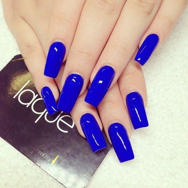Royal blue square nails #laque #laquenailbar #getlaqued by laquenailbar ift.tt/VbAh93    unghie gel, gel unghie, ricostruzione unghie, gel per unghie, ricostruzione unghie gel http://amzn.to/28IzogL