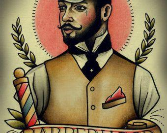 Wahre Herren Tattoo Print von ParlorTattooPrints auf Etsy