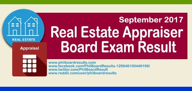 The Professional Regulation Commission PRC Release Result For September 2017 Real Estate Appraiser Board Exam Also Known As