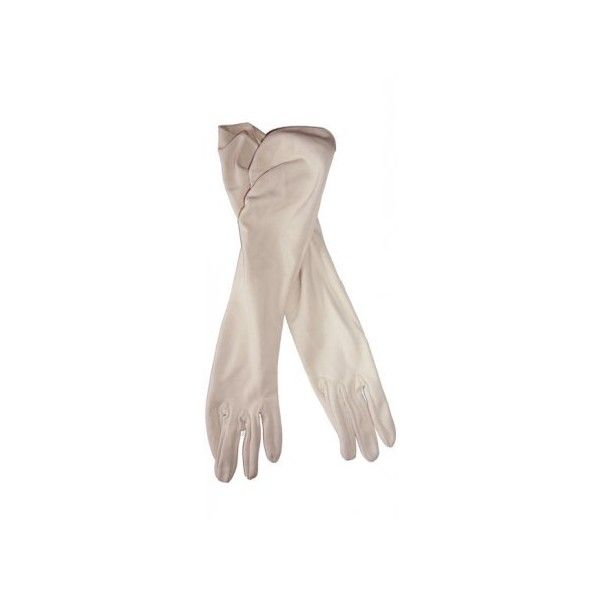 1950s Long nude gloves [gl043] - €16.00 : Hayworth Vintage, Ireland's... (335 MXN) ❤ liked on Polyvore featuring accessories, gloves, handschuhe, luvas, white, long gloves, long white gloves, white gloves and vintage gloves