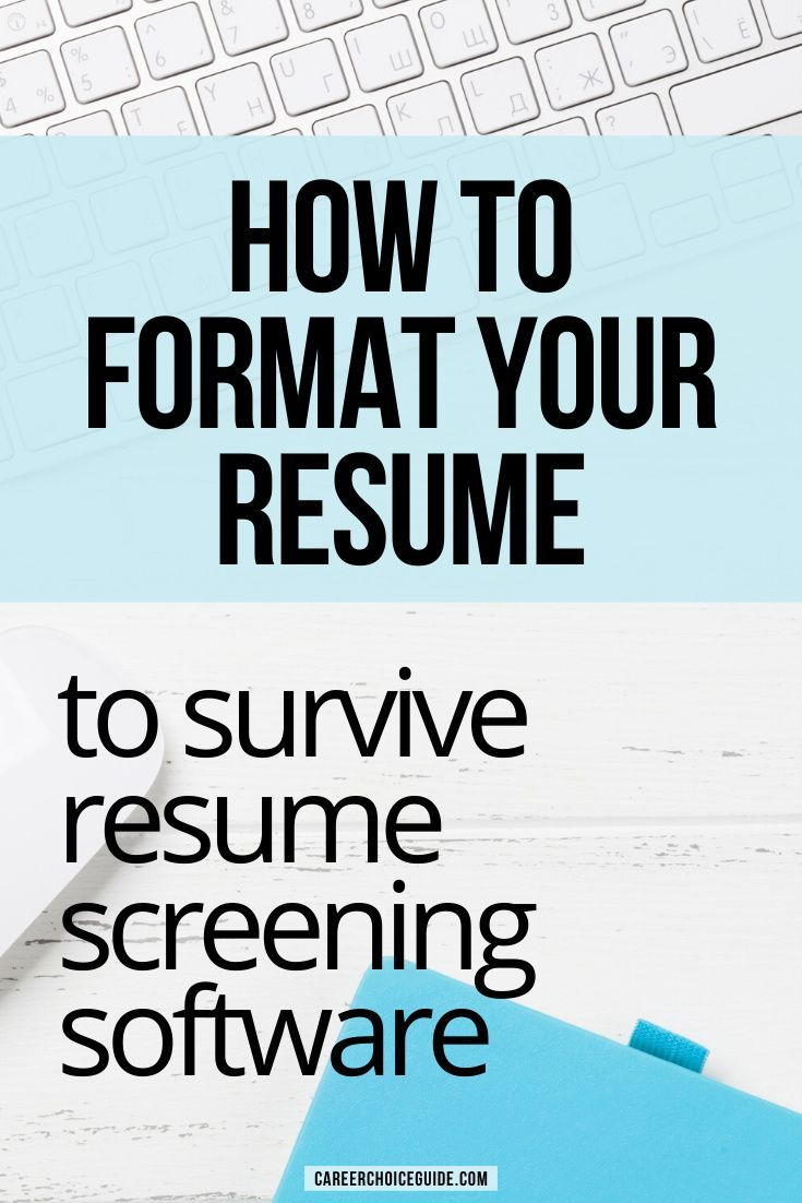 Resume Formatting For Applicant Tracking Systems In 2020 Resume Format Job Cover Letter Resume