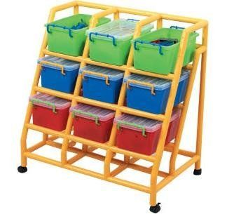 9 Bin Non-Tip Mobile Storage, Classroom Cubbies, Cubby Units . $254.21. The 9 BIN NON-TIP MOBILE STORAGE is classroom addition for your preschool or daycare! Created for multi use in different locations! Features: a) Totally mobile with nylon locking castersb) Will move from room to room through any doorc) Built-in non-tip style so errant young climbers can't pull overd) Tiered style makes for easy access and visibility e) Easy clean molded ABS plastic parts with ...