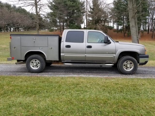 2006 Chevy 2500 Hd 4x4 Crew Cab Utility Truck Trucks For Sale