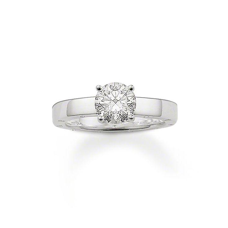 Thomas Sabo - Women Round Diamond Ring rcLJaKO1l