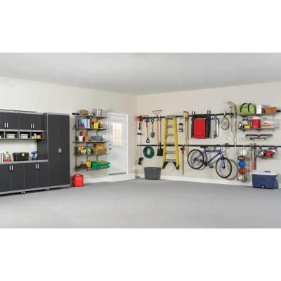 Rubbermaid fasttrack garage 84 in hang rail black the for Rubbermaid fasttrack