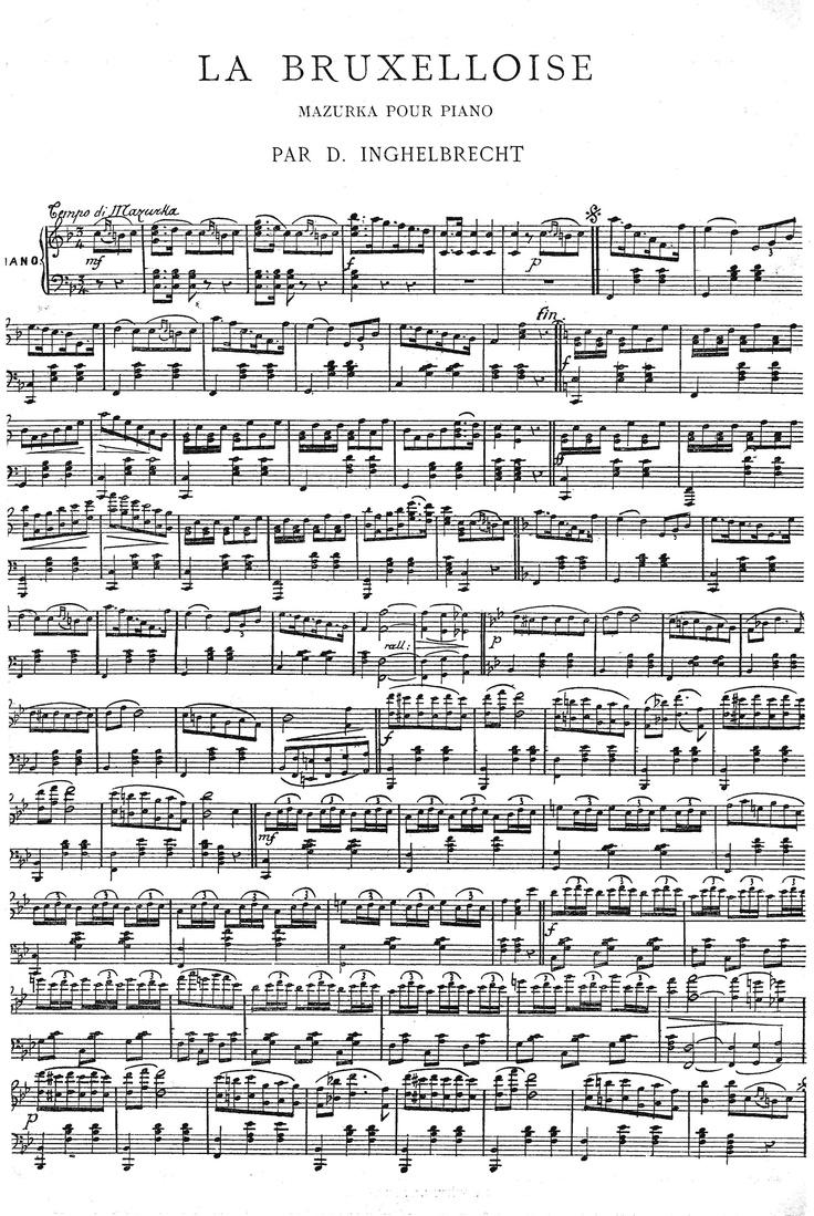 Old sheet music - Free printable