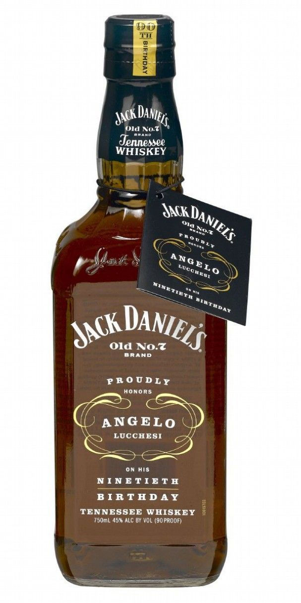Jack Daniel's Angelo Lucchesi 90th Birthday 75cl / 45% Tennessee Whiskey A limited edition of Jack Daniel's bottled in honour of the birthday of Angelo Lucchesi, the first JD salesman. He started back with the company in 1953 and turned 90 on Christmas Eve 2010 - top work, sir.