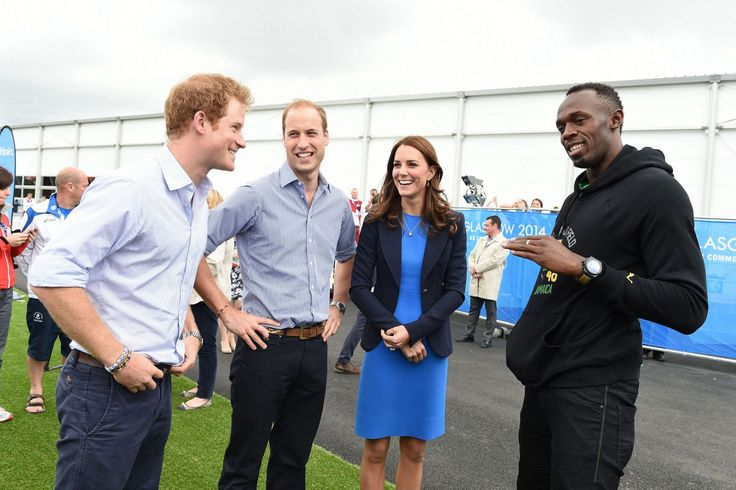 Kate Middleton Latest News | Prince William and Kate Middleton catch up with Usain Bolt after busy ...