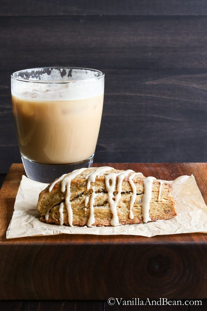 Pumpkin Scones with Candied Ginger and Maple Glaze - Thanksgiving Morning breakfast, anyone? | Vanilla And Bean