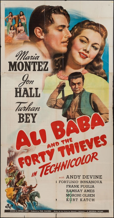Movie Posters:Fantasy, Ali Baba and the Forty Thieves (Universal, 1944). ... Image #1