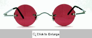 Ozzy Small Round Color Tinted Sunglasses - 595 Rose
