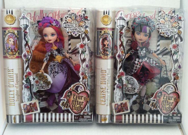 Ever After High Spring Unsprung Holly O'Hair & Cerise Hood (2 Pack) Set