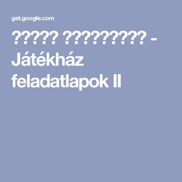 أرشيف الألبومات - Játékház feladatlapok II