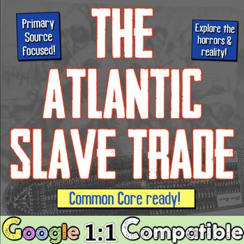 Atlantic Slave Trade: A Student Investigation into the Horrors! Middle Passage!  Google 1:1 Compatible!