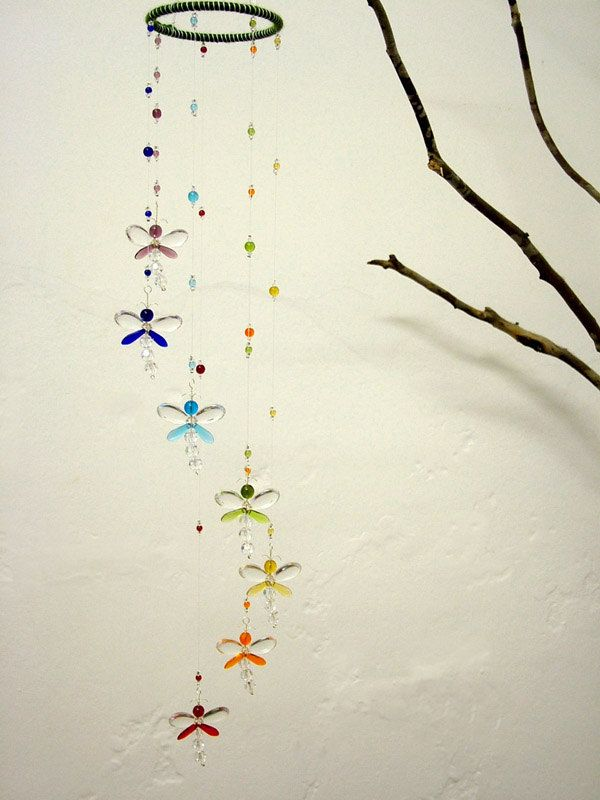 Nursery Idea Crystal Baby Mobile Baby Shower Baby Boy Mobile Dragonfly…