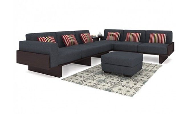 Get Great Deals on Audrey 6 Seater L Shape Corner Sofa Set Gray (Walnut) at WoodenStreet. Buy Wooden Furniture Online with ✓Elegant Designs ✓Free Shipping