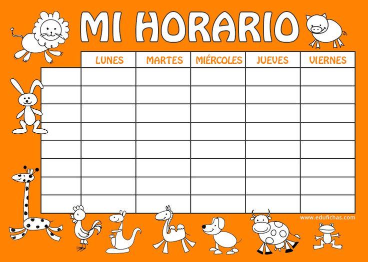 Horario vuelta al cole  http://www.edufichas.com/blog/horario-escolar-para-imprimir/