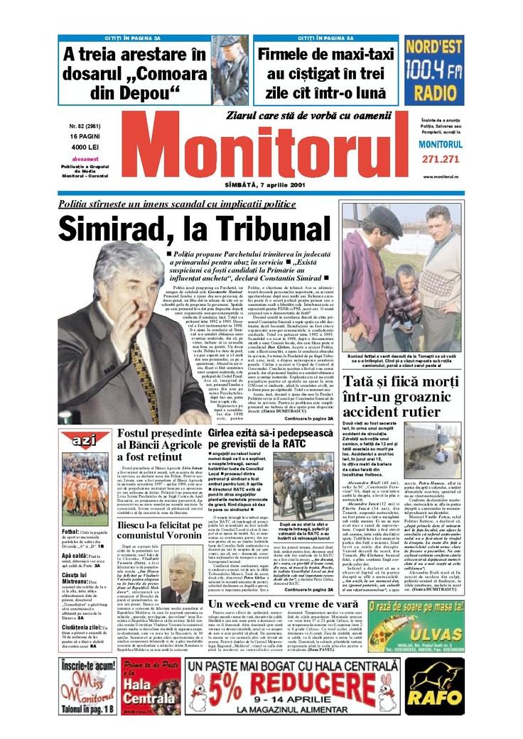 Monitorul din 7 aprilie 2001