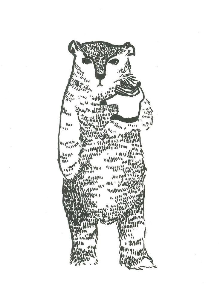 Bear Guardian Ink brush-pen by Ashya Lane-Spollen