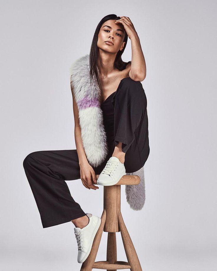 5th Story lavender fur scarf