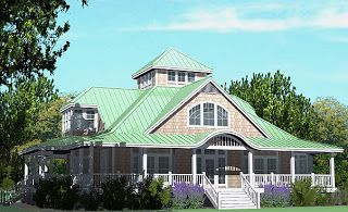 SOUTHERN COTTAGES HOUSE PLANS: Modern Day Widow's Walk