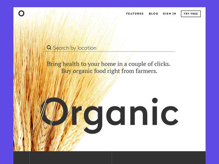 Tubik organic landing page scroll animation