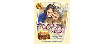 "Something To Remember Me By, Susan V. Bosak; The little girl has a special relationship with her grandmother.  As they age, her grandmother gives her many items ""to remember her by"".  As tIme passes, she expresses a fear that she won't remember her granddaughter, who gives her a picture of the two of them ""to remember her by"".  When the grown granddaughter looks in the mirror, she realizes that she has her grandmother's smile and is comforted by that which lives on in family."