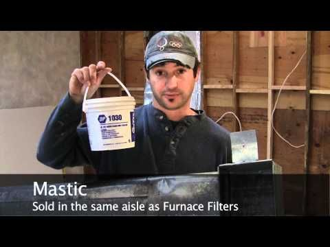 ▶ How to Seal an HVAC Duct with Mastic - Duct Sealant - YouTube