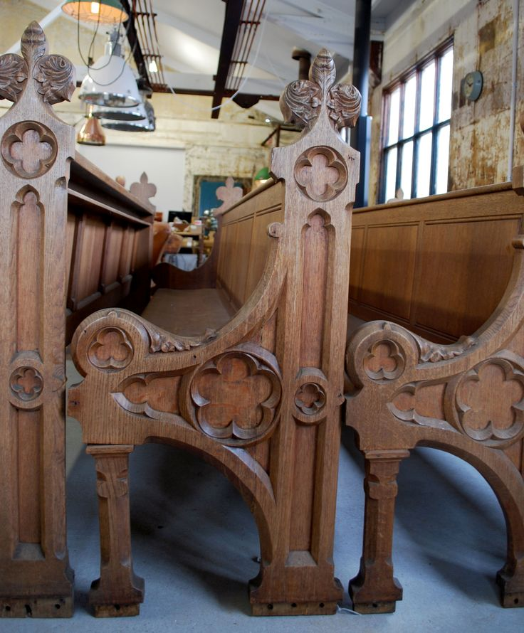 French Church Pews, Made from European Oak - Vintage Industries