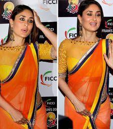 Buy Kareena kapoor rasbary bollywood replica saree kareena-kapoor-saree online