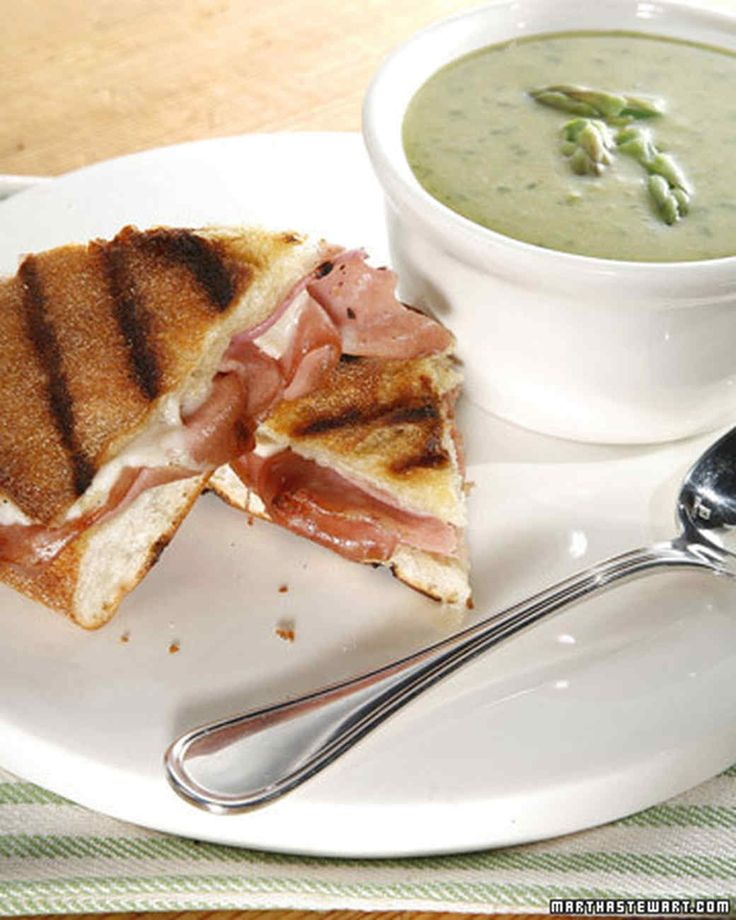 """This delicious asparagus soup recipe is courtesy of Scott Conant's """"Bold Italian."""""""