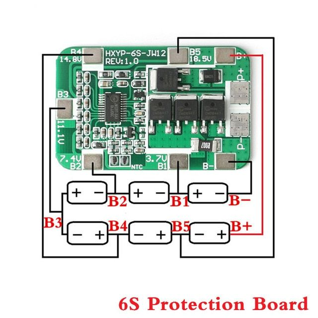 6s 14a 22 2v Pcb Bms 18650 Protection Board For 18650 Li Ion Lithium Battery Cell Charger Protect Battery Charger Circuit Lithium Battery Lithium Ion Batteries