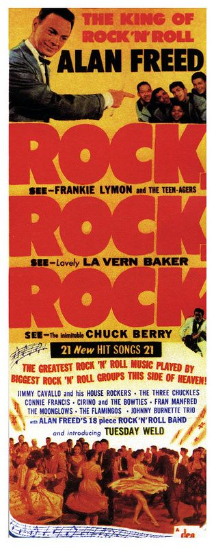 Alan Freed presents Frankie Lymon & The Teen-Agers, Chuck Berry, Connie Francis, Tuesday Weld among several Concert
