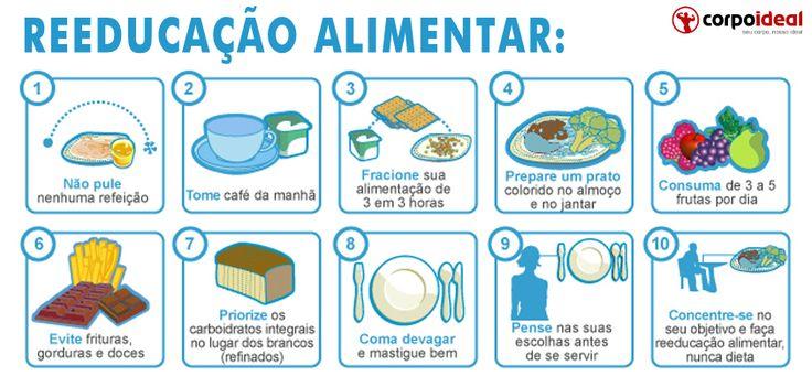 10 dicas de reeducação alimentar