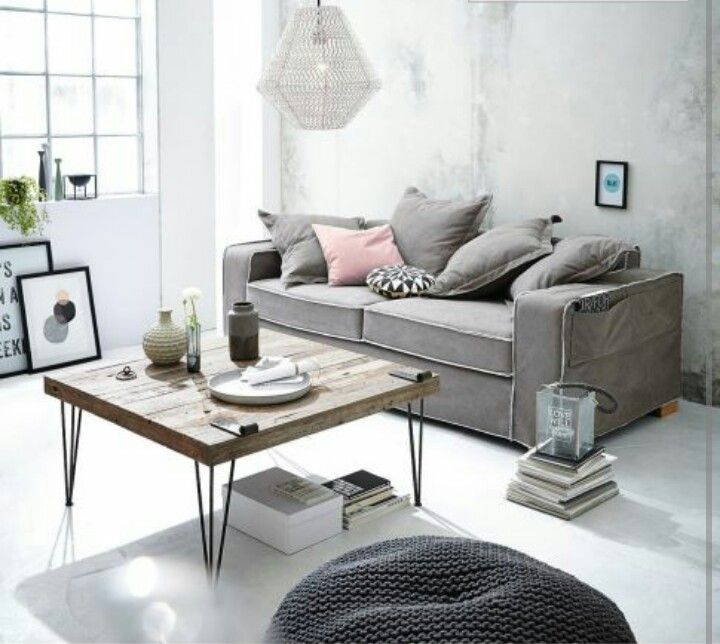 60 best images about wohnzimmer grau on pinterest | grey, fur and ... - Industrial Chic Wohnzimmer