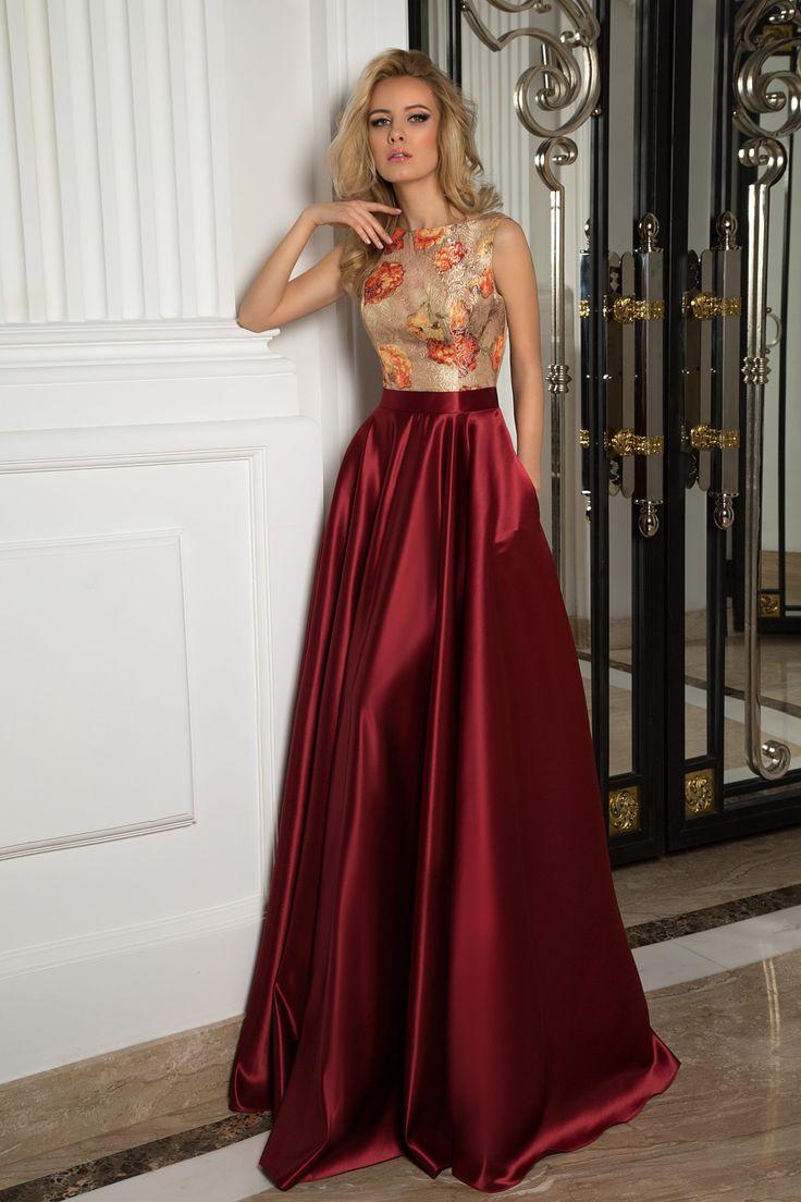 Silky and shiny | rina de 2019 | Vestido chique, Vestido de festa longo e Vestido cetim