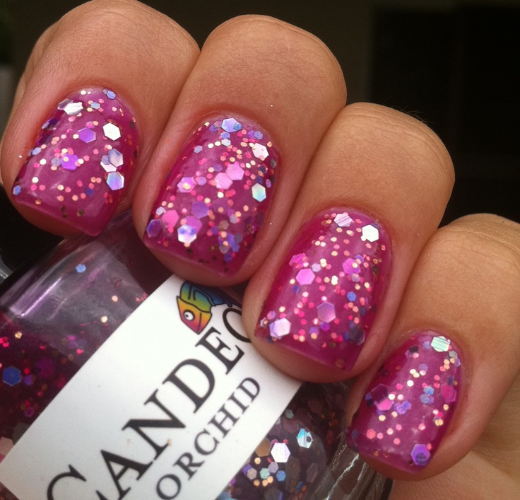 Candeo Colors - OrchidBeautiful Make Up Nails, Nails Art, Nails Makeup Hair, Nails Nails Nails, Glitter Rawwrr, Chunky Glitter, Nails Polish, Candeo Colors, Nails Fetish