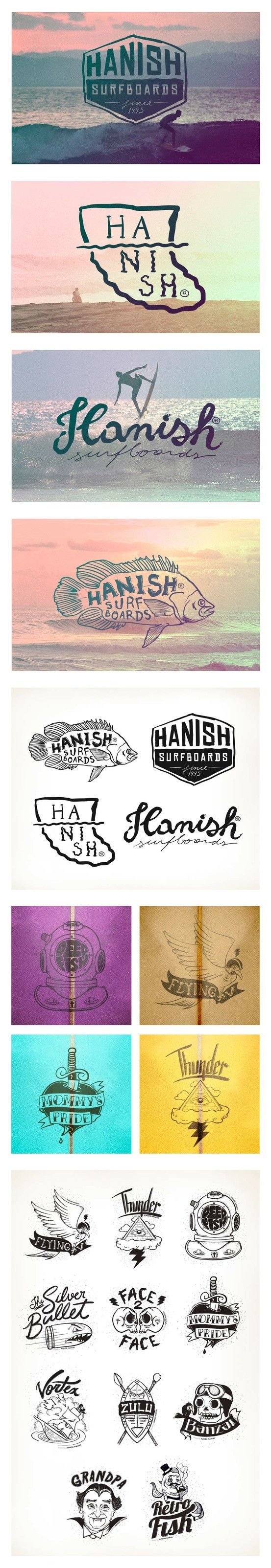 Identidade visual de logos surf Hanish, www.BlickeDeeler.de | Take a look at www.LogoGestaltung-Hamburg.de
