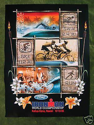Ironman 2005 #triathlon #hawaii poster - kailua kona rare #original vintage in mi,  View more on the LINK: http://www.zeppy.io/product/gb/2/181607544083/