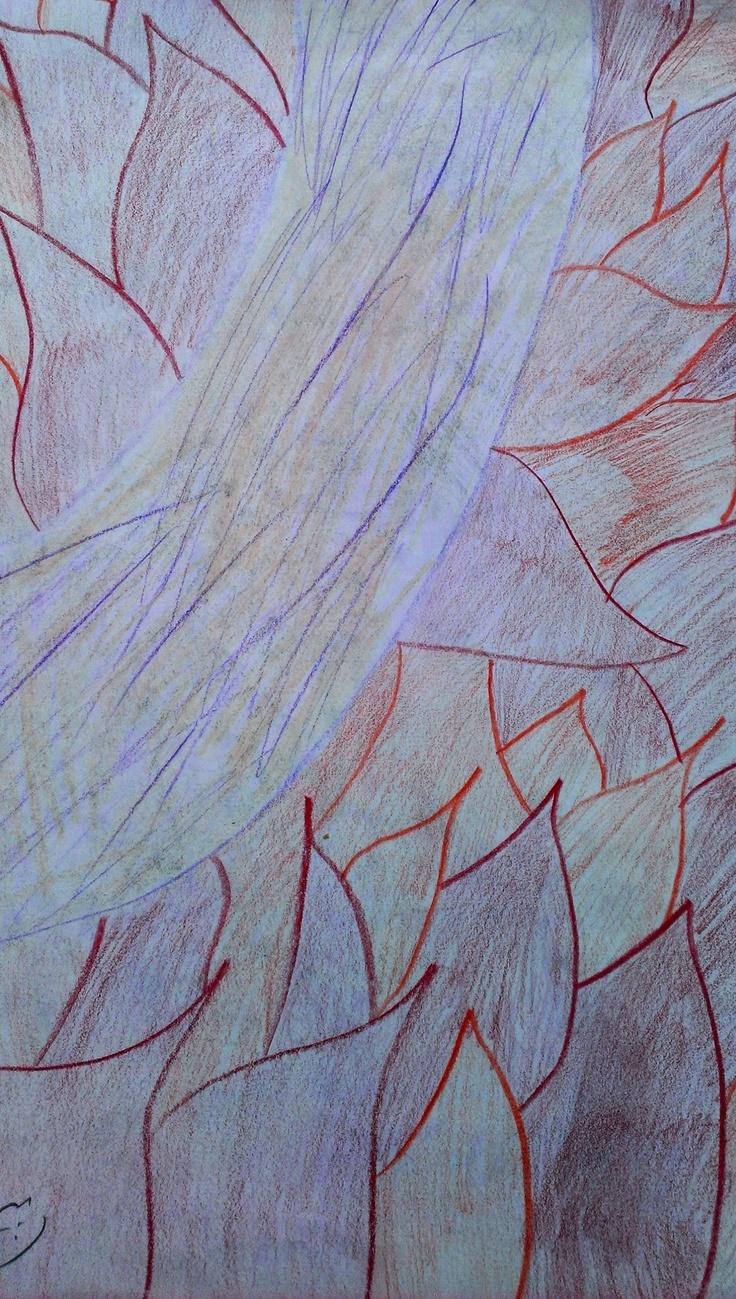 Illustration using coloured pencils