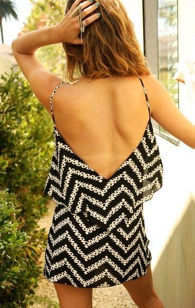 deep v back.: Open Back Dresses, Summer Dresses, Beaches Dresses, Style, Backless Dresses, Low Back Dresses, Cute Dresses, The Dresses, Chevron Dress