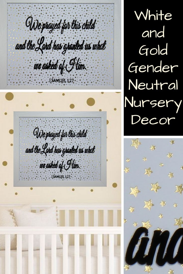This religious baby gift is perfect for the mom to be and dad to be waiting to find out the gender of their little one. It can be difficult to come up with baby gift ideas for a gender neutral baby gift. This baby gift is the perfect gender neutral nursery artwork. Many parents are using gender neutral nursery decor to plan for having more than one child. This gender neutral baby gift is a great baby gift idea when you just don't know what to expect.  This white and gold nursery decor can…