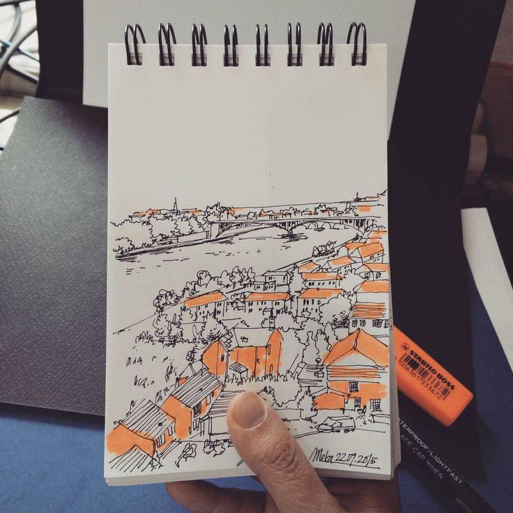 orange #mekaworks #urbansketch