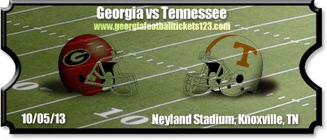 georgia bulldogs over tenessee volunteers   Tennessee vs Georgia Football Tickets   10/05/13   Neyland Stadium ...