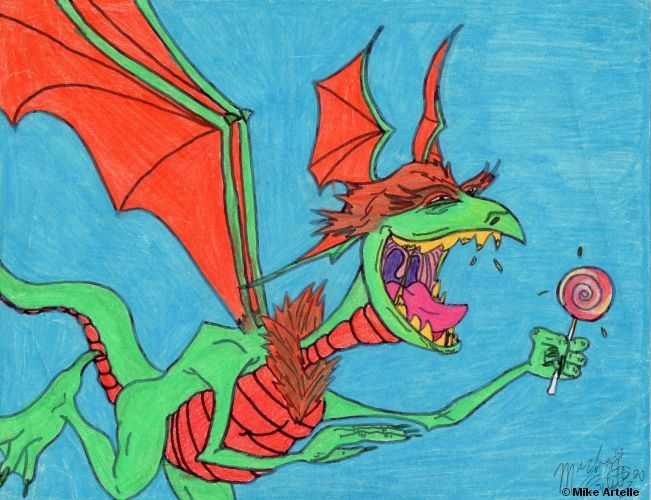 The Sucker Dragon, 1990. By Mikey Artelle