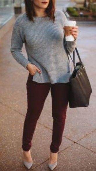 I feel like I really need some burgundy pants                                                                                                                                                                                 More