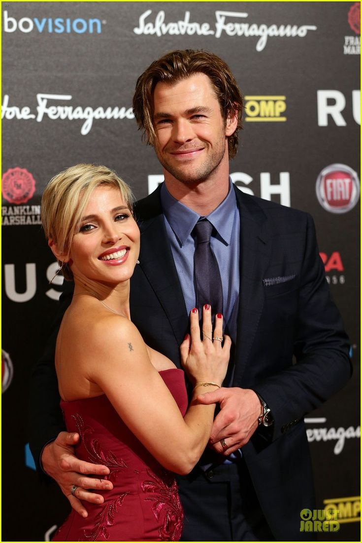 Chris Hemsworth and Elsa Pataky are dressed to impress while attending the premiere of his latest film Rush held at Auditorium della Conciliazione on Saturday (September 14) in Rome, Italy.