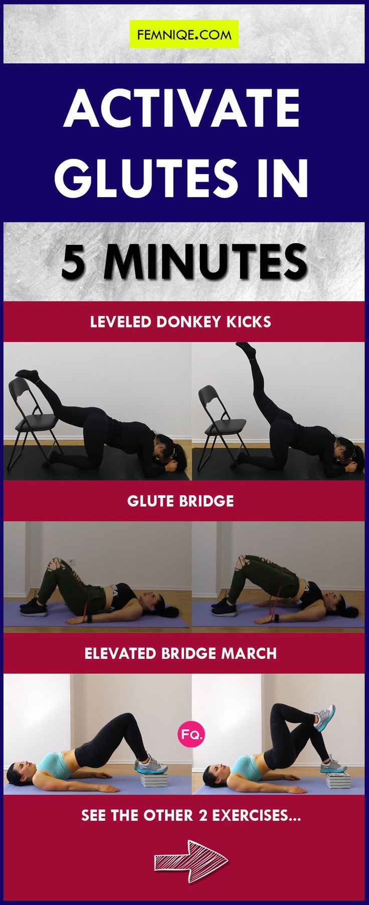 How To Activate Glutes In 5 Minutes Fire Them Up Activate Glutes Fitness Motivation Pictures Glutes Workout